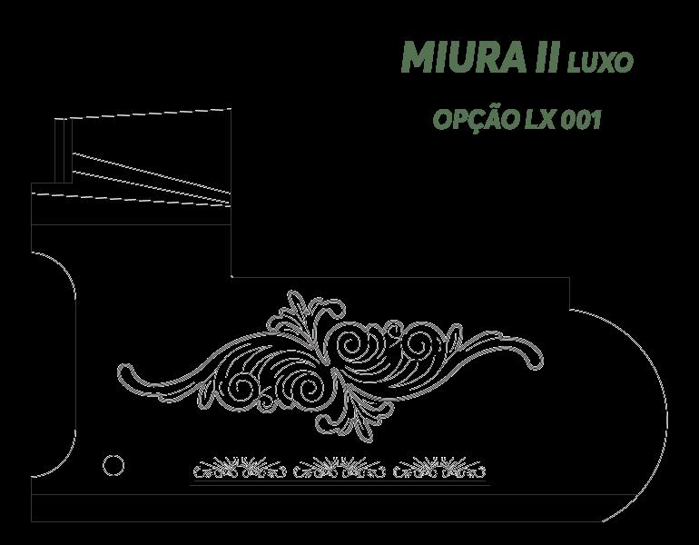 Desenho Miura II Luxo Opção LX 001