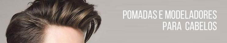 Pomadas e modeladores para cabelo