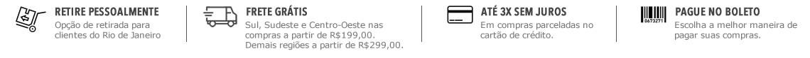FRETE GRÁTIS nas compras acima de R$199,00