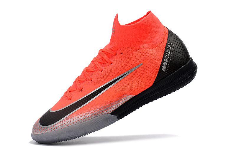 9adf18fcd6a90 ... Chuteira Nike futsal Mercurial Superfly VI Elite CR7 Laranja Preta -  Imagem 3 ...