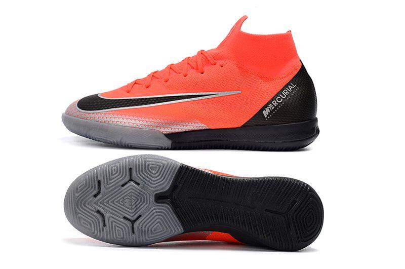 29ddaedfa5369 ... Chuteira Nike futsal Mercurial Superfly VI Elite CR7 Laranja Preta -  Imagem 6