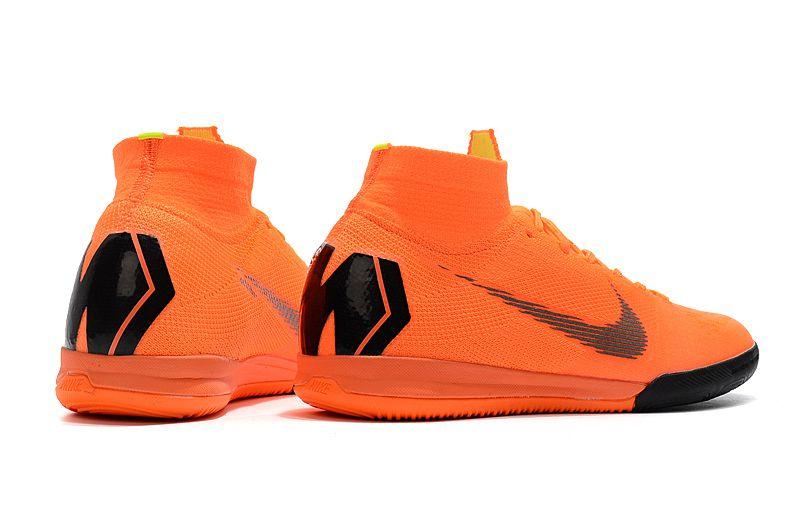 d4010cf3618b3 ... Chuteira Nike Futsal Cano Alto Superfly X VI Elite Laranja e Preta -  Imagem 5 ...