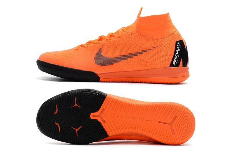 86e632f4712c2 ... Chuteira Nike Futsal Cano Alto Superfly X VI Elite Laranja e Preta -  Imagem 6