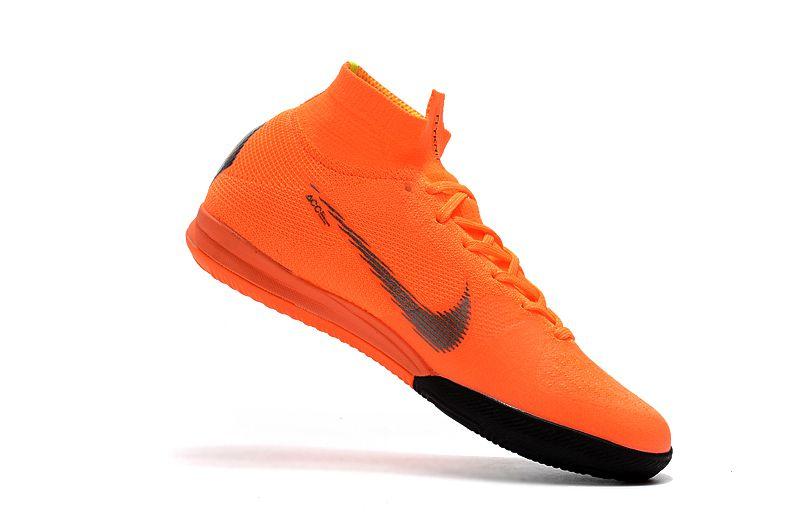 d23fe9cb0cb06 ... Chuteira Nike Futsal Cano Alto Superfly X VI Elite Laranja e Preta -  Imagem 2 ...