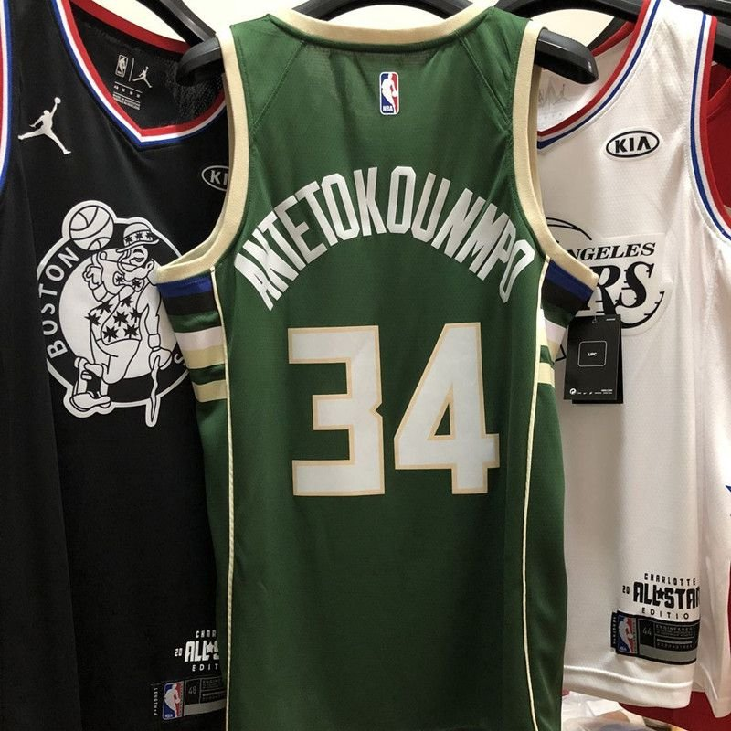 205d8fe82d ... Camiseta NBA Regata Swingman milwaukee Bucks antetokounmpo Verde -  Imagem 3
