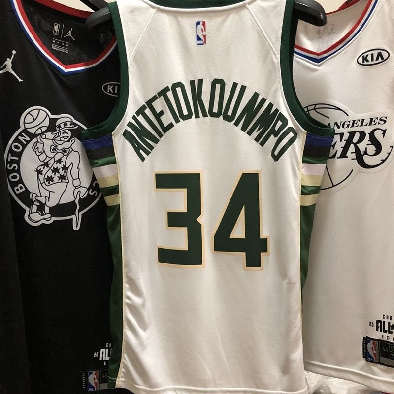 1c1920b7ec ... Camiseta NBA Regata Swingman milwaukee Bucks antetokounmpo Branca -  Imagem 3