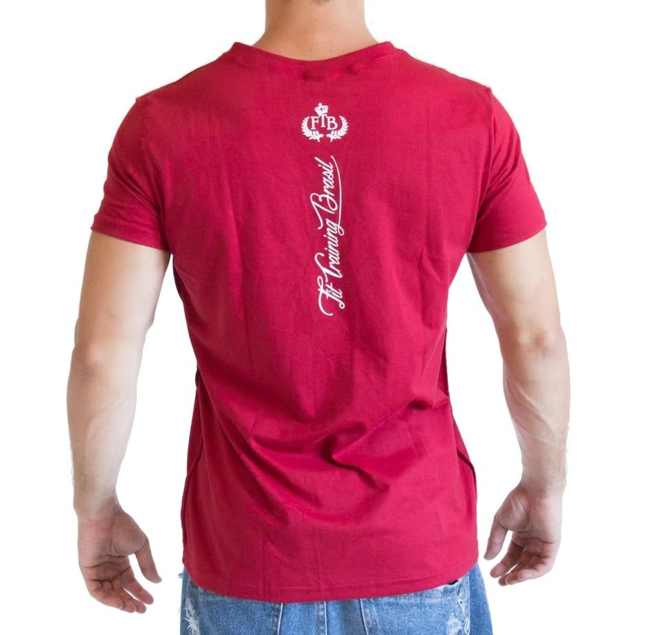 1d891c6fb Camiseta Gola V - Vermelha - Fit Training Brasil