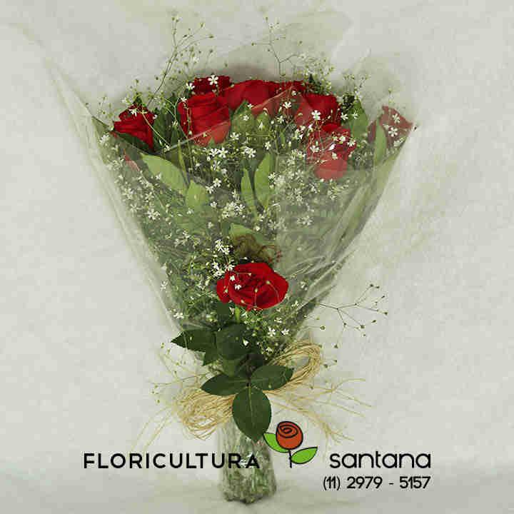Buquê Rosas Vermelhar para presente