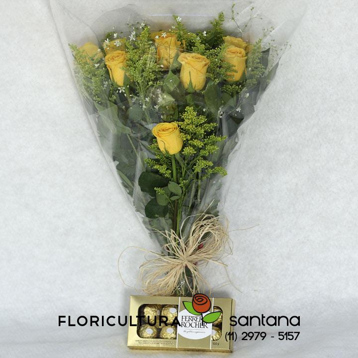 Buquê Rosas amarelas para presente