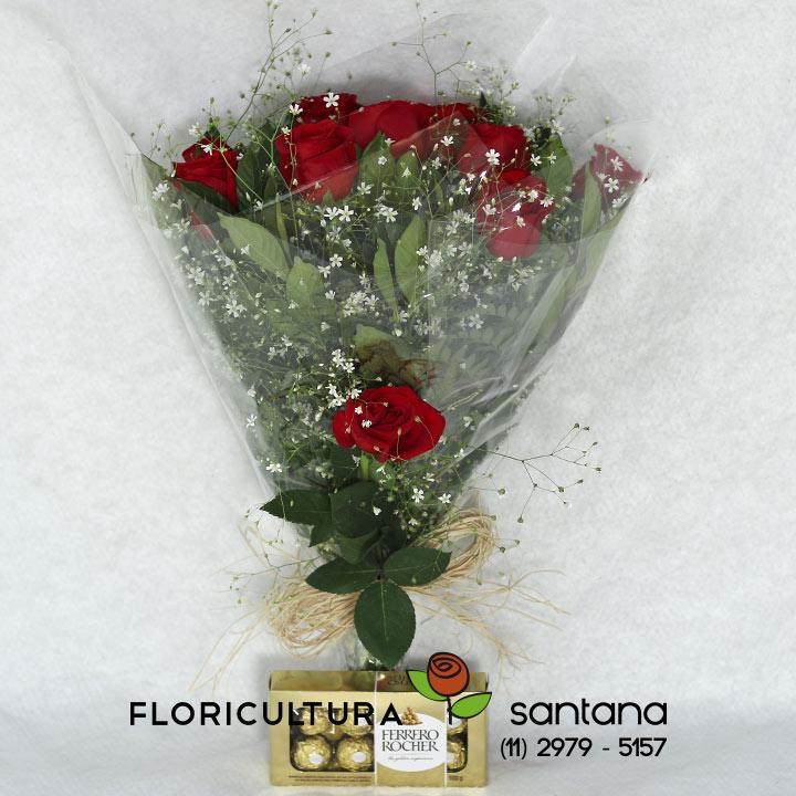 Buquê Rosas Vermelhas Elegance