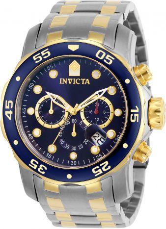 b81f0108e2c Relógio Invicta Pro Diver 0077 Misto Aço Inox com Banhado Ouro 18k  Cronografo 48mm