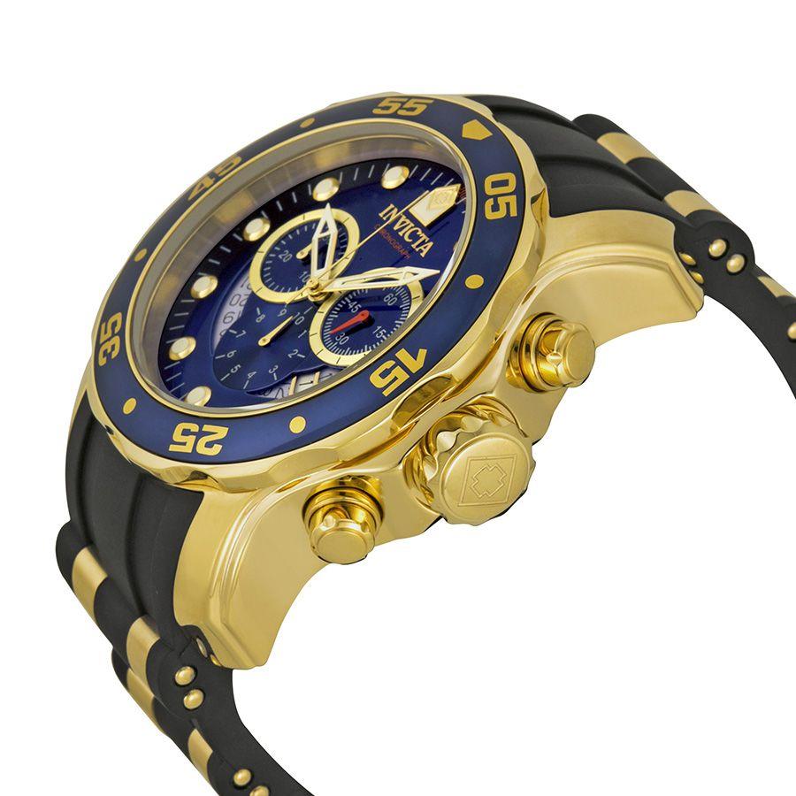 9aef31a7833 ... Relógio Invicta Pro Diver 6983 Banhado Ouro 18k Pulseira em Borracha  Cronografo 48mm - Imagem 2 ...