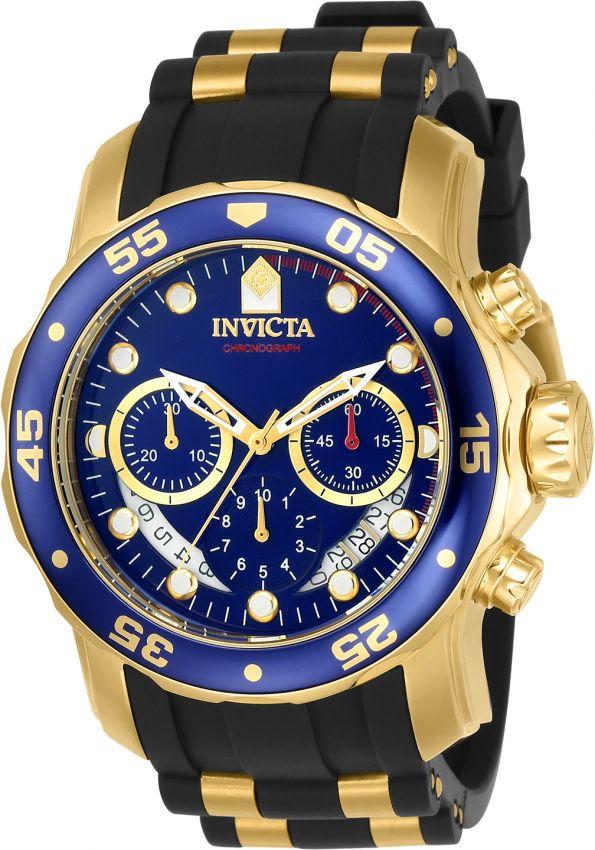 e66d799a819 Relógio Invicta Pro Diver 6983 Banhado Ouro 18k Pulseira em Borracha  Cronografo 48mm