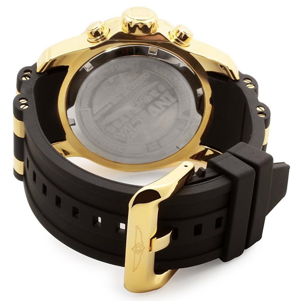 7f1f855460a ... Relógio Invicta Pro Diver 6983 Banhado Ouro 18k Pulseira em Borracha  Cronografo 48mm - Imagem 4