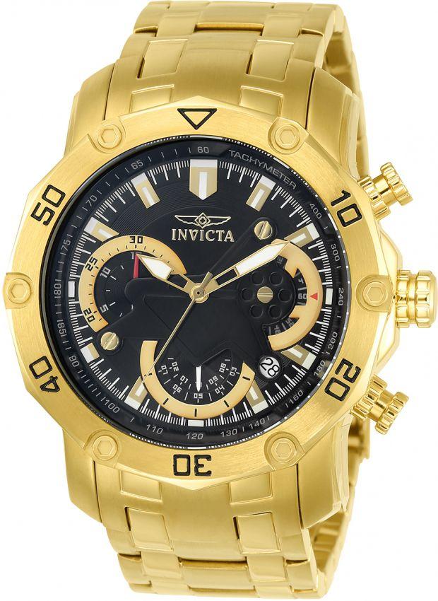 20733f70f42 Relógio Invicta Pro Diver 22767 Banhado Ouro 18k Cronografo 50mm