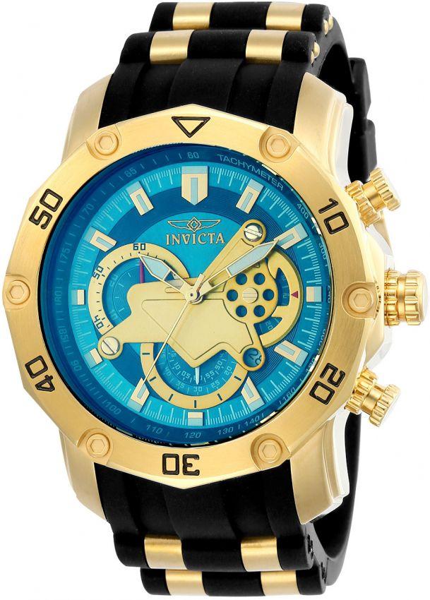 f1851d34d77 Relógio Invicta Pro Diver 23426 Original 50mm Banhado Ouro 18k ...