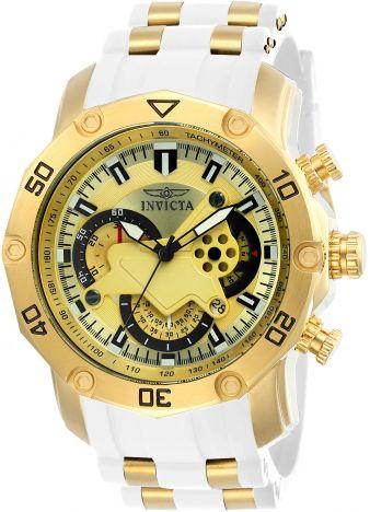 c77fc847839 Relógio Invicta Pro Diver 23424 Banhado Ouro 18k Cronografo 50mm