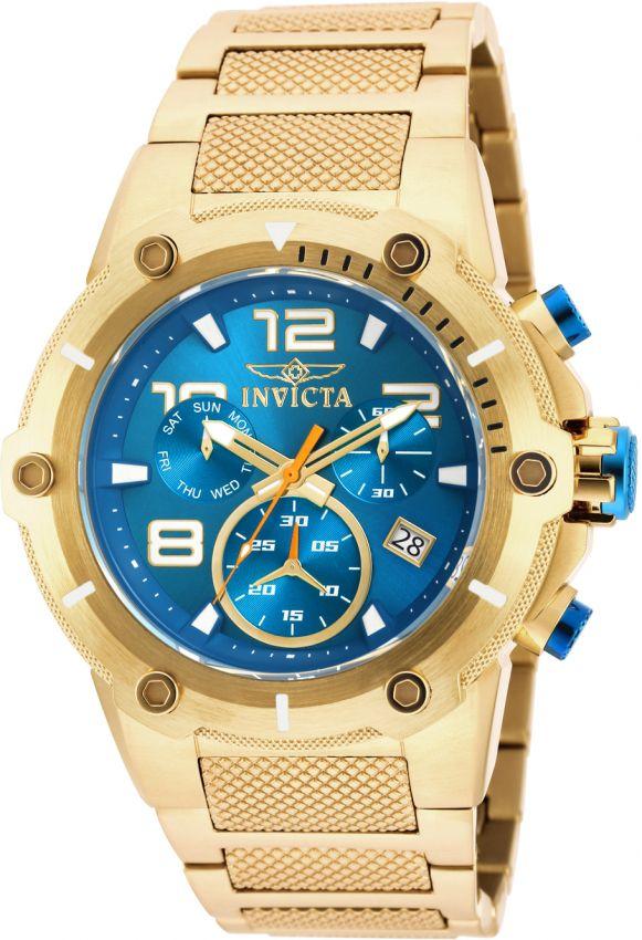 1ecbc9a9d4a Relógio Invicta Speedway Turbine 25851 Automático 49mm Banhado Ouro ...