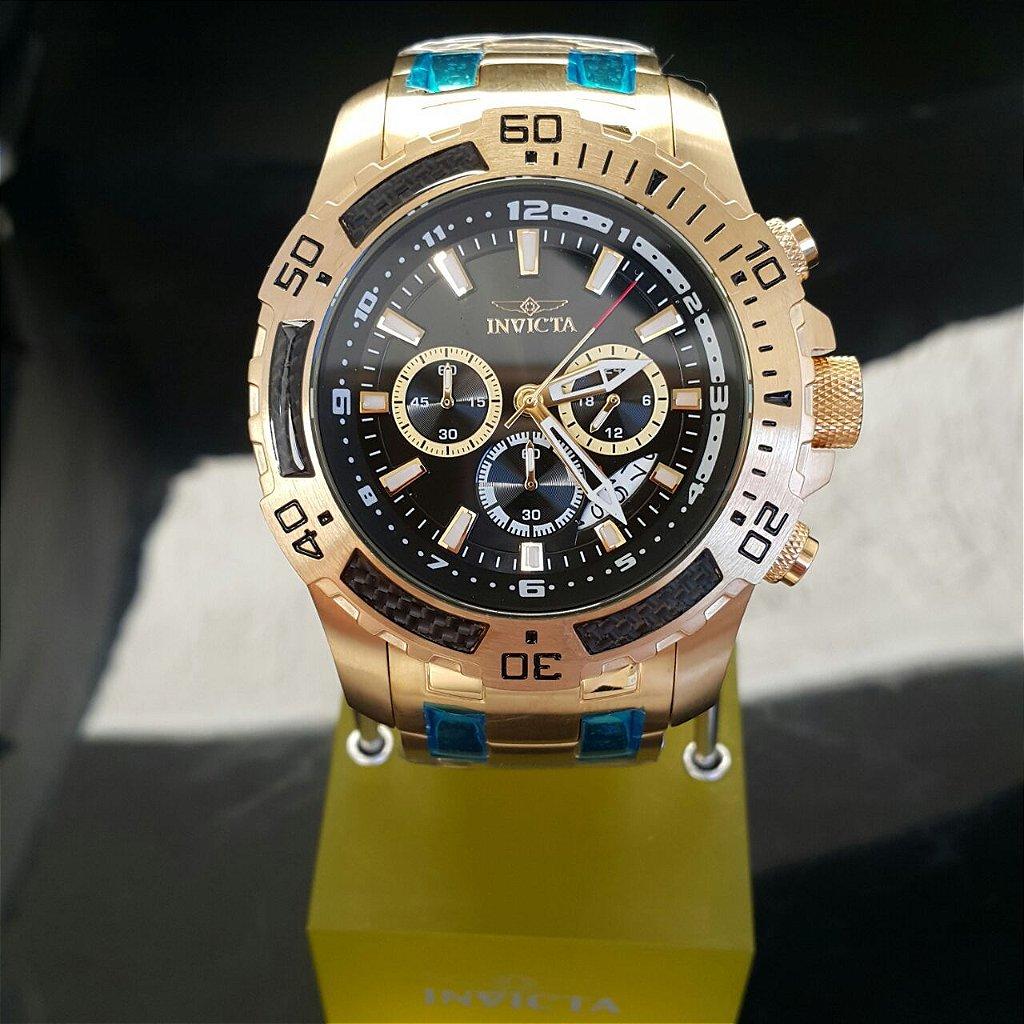 4d691ede14d ... Relógio Invicta Pro Diver 24855 Banhado Ouro 18k Cronografo 51mm -  Imagem 2 ...