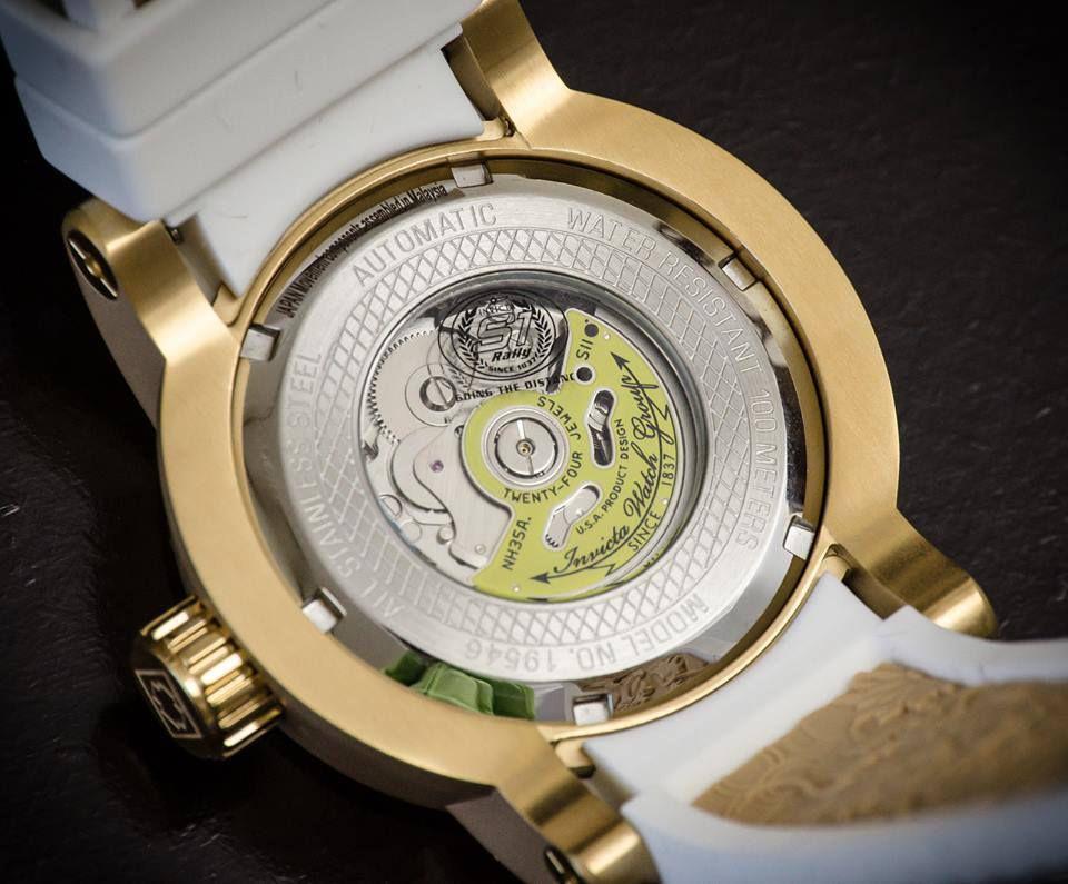 12c6eb437b4 ... Relógio Invicta S1 Yakuza 19546 Branco Original Banhado Ouro 18k 48mm -  Imagem 5