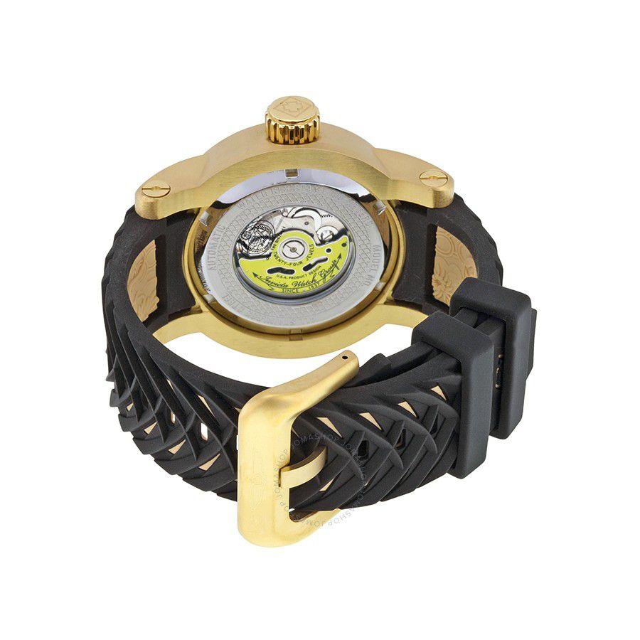 660f02e5957 ... Relógio Invicta S1 Yakuza 15863 Preto Automático Banhado Ouro 18k 48mm  - Imagem 3 ...