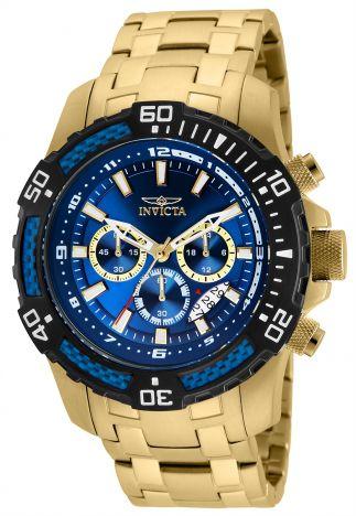 3185bccce8b Relógio Invicta Pro Diver 24856 Banhado Ouro 18k Cronografo 51mm