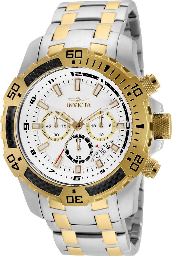 2d454154ebc Relógio Invicta Pro Diver 24855 Original B. Ouro 18k W R 100m 51mm ...
