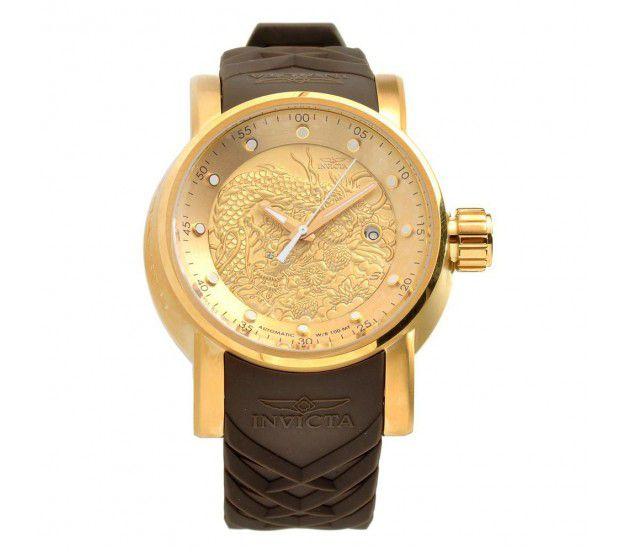 a4f56d77dc5 ... Relógio Invicta S1 Yakuza 12790 Banhado Ouro 18k Automático 48mm NH35A  - Imagem 2 ...