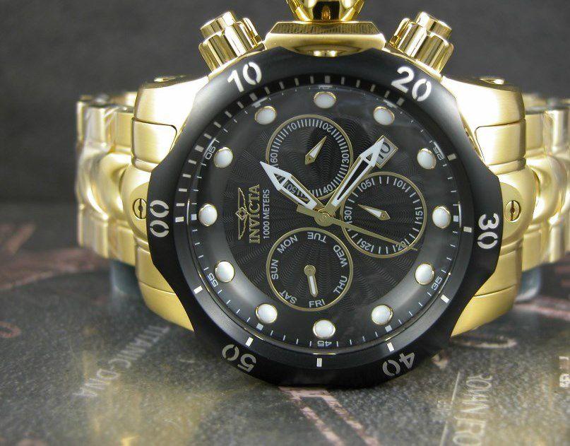 bd6e9d52d11 ... Relógio Invicta Venom 23892 Suiço Cronografo 53.7mm Banhado Ouro 18k -  Imagem 2 ...