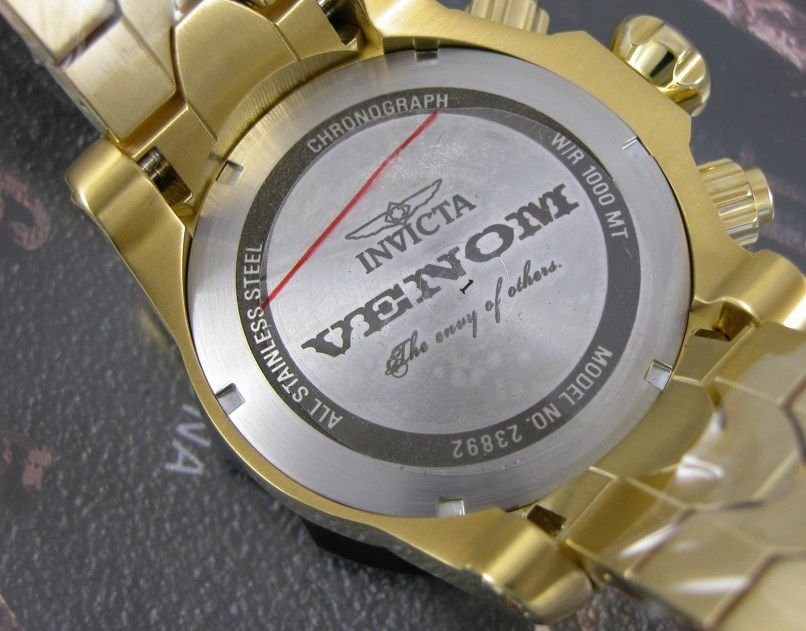 8a8c4ee2eaa ... Relógio Invicta Venom 23892 Suiço Cronografo 53.7mm Banhado Ouro 18k -  Imagem 3 ...