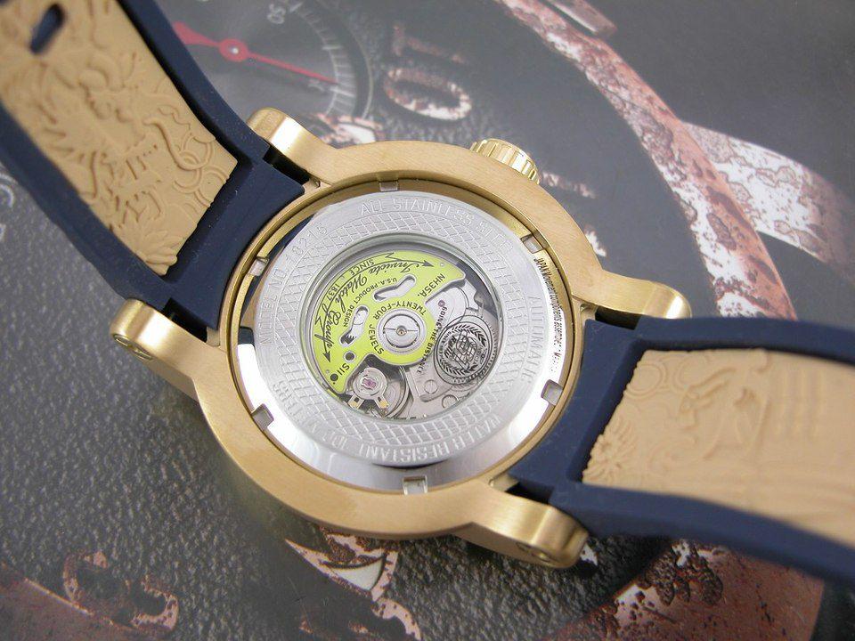 612ba472fc8 ... Relógio Invicta S1 Yakuza 18215 Automático 48mm Banhado Ouro 18k -  Imagem 6 ...