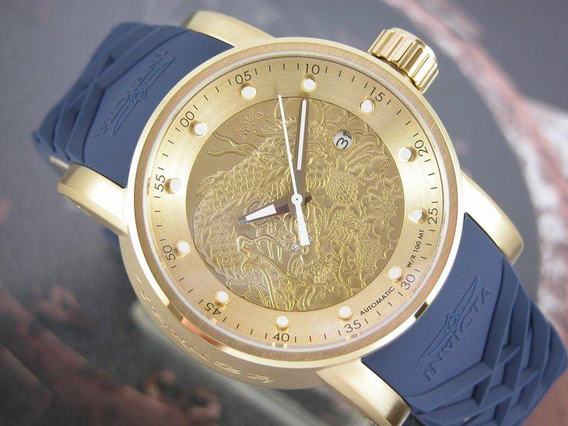 e20900c3df2 ... Relógio Invicta S1 Yakuza 18215 Automático 48mm Banhado Ouro 18k -  Imagem 5 ...