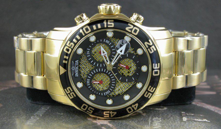 d52af8ca112 ... Relógio Invicta Pro Diver 19837 Banhado Ouro 18k Cronografo 48mm -  Imagem 4 ...