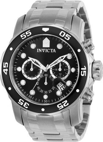 81931903faf Relógio Invicta Pro Diver 0076 Aço Inoxidável Preto Cronografo 48mm ...