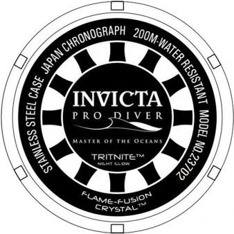 5fa0663c1e9 ... Relógio Invicta Pro Diver 23702 Cronografo 50mm Banhado Ouro 18k -  Imagem 4
