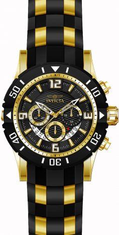 8dc5b7c2323 ... Relógio Invicta Pro Diver 23702 Cronografo 50mm Banhado Ouro 18k -  Imagem 3 ...