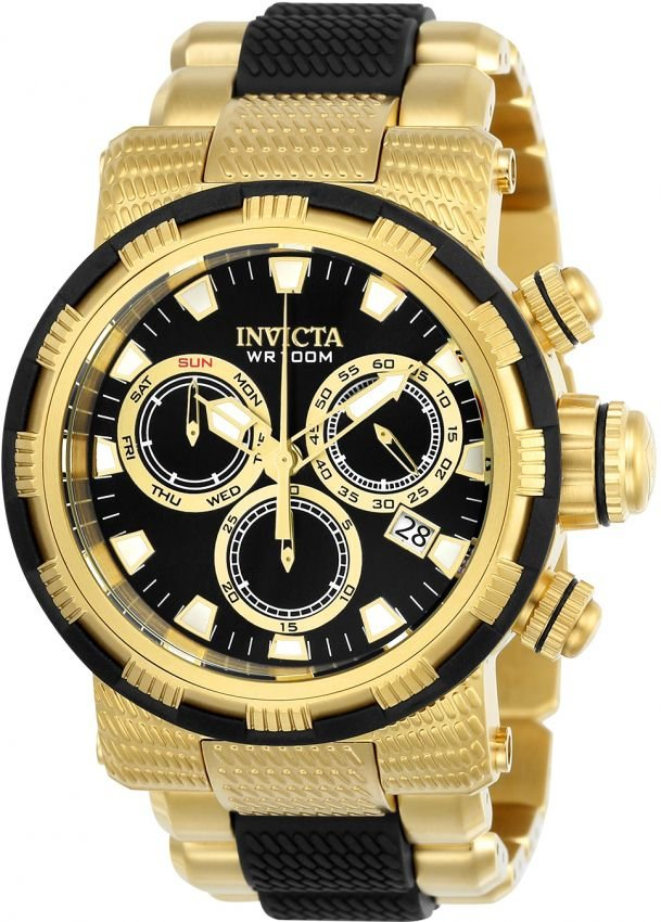 c697cb88ef0 Relógio Invicta Specialty Capsule 23980 Banhado Ouro 18k Cronografo Swiss  Z60
