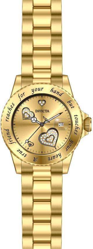 0e869f6b8b7 ... Relógio Invicta Angel Collection 14733 Feminino 40mm Banhado Ouro 18k -  Imagem ...