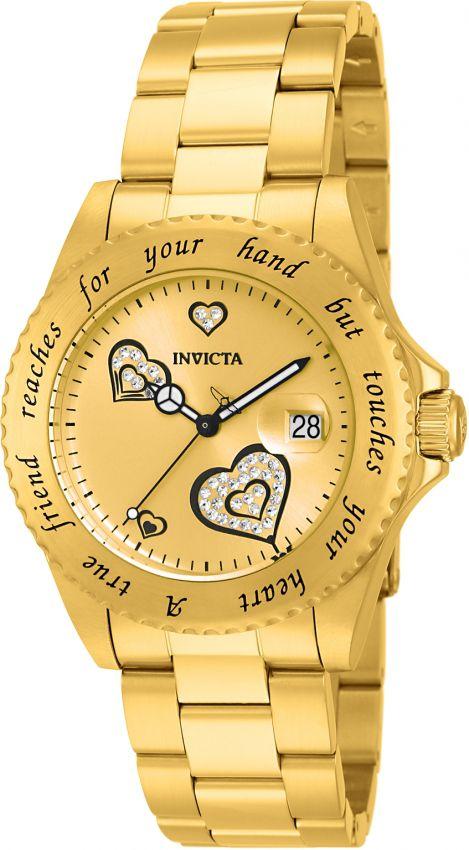 721d240ef57 Relógio Invicta Angel Collection 14733 Feminino 40mm Banhado Ouro ...
