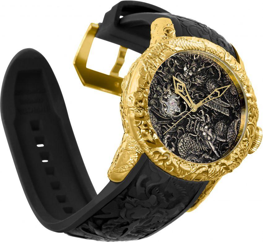 cfd83f2c36785 ... Relógio Invicta S1 Rally Dragon 25082 Automático 50mm Banhado Ouro 18k  - Imagem 3 ...