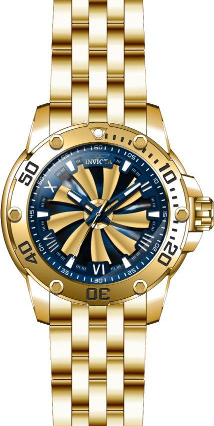 1fb46d5812f ... Relógio Invicta Speedway Turbine 25851 Automático 49mm Banhado Ouro 18k  - Imagem 4
