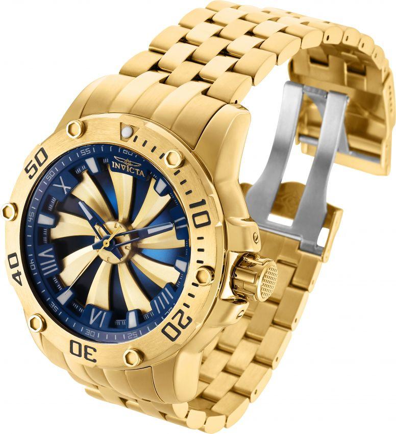 e7aacc4ca48 ... Relógio Invicta Speedway Turbine 25851 Automático 49mm Banhado Ouro 18k  - Imagem 3 ...