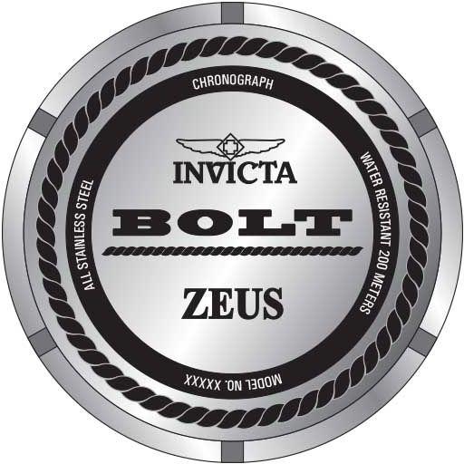 2663a6e9d05 ... Relógio Invicta Bolt Zeus 23911 Banhado Ouro 18k 53mm Calendário Duplo  - Imagem 4