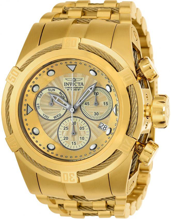0176258f9d3 Relógio Invicta Bolt Zeus 23911 Banhado Ouro 18k 53mm Calendário Duplo