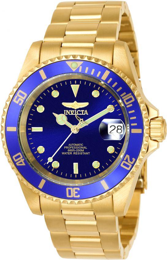 d049fa35f42 Relógio Invicta Pro Diver 8930OB Automático40mm Banhado Ouro 18k ...