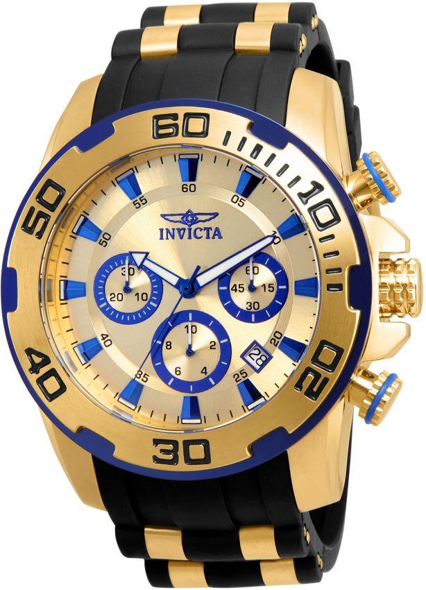 30e7e819079 Relógio Invicta Pro Diver 22308 Cronografo 50mm Banhado Ouro 18k W R 100m