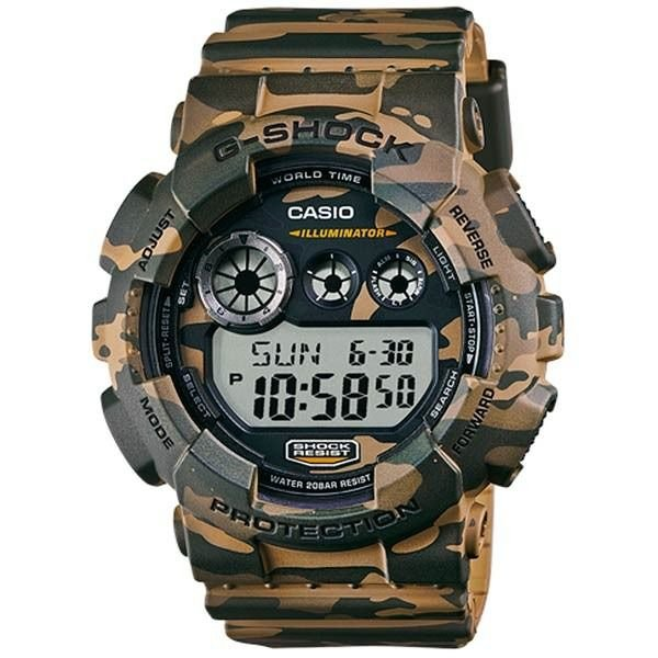 4dcc8177b097 Relógio Casio G-Shock GD-120CM-5DR Resina Masculino Digital W R 200m ...