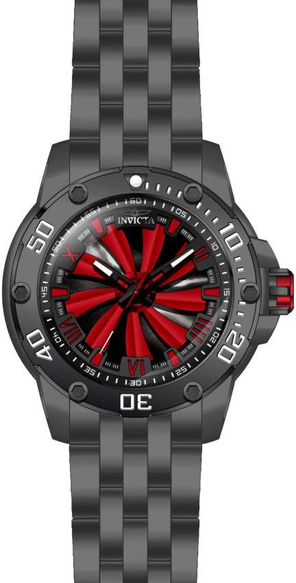 b8209c17e54 ... Relógio Invicta Speedway Turbine 25849 Preto c  Vermelho Automático Aço  Inox - Imagem 3 ...
