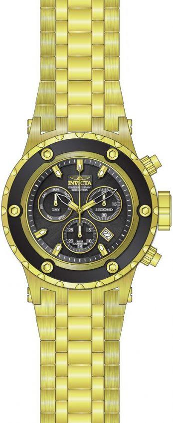 b5f1af3ac22 ... Relógio Invicta Subaqua 23921 Cronografo 52mm Banhado Ouro 18k Suíço  Z60 - Imagem 2 ...