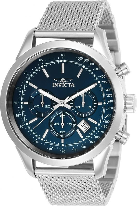 dbab9fe2f65 Relógio Invicta Speedway 24209 Aço Inoxidável 45mm Mostrador Azul VD53